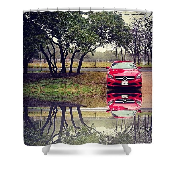Time For #reflection. #mbfanphoto Shower Curtain