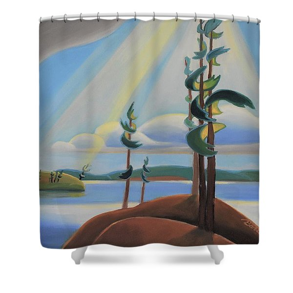 To The North Shower Curtain