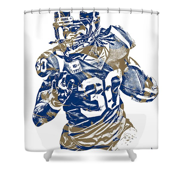 Todd Gurley Los Angeles Rams Pixel Art 22 Shower Curtain