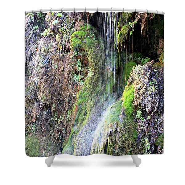 Tonto Waterfall Cave Shower Curtain