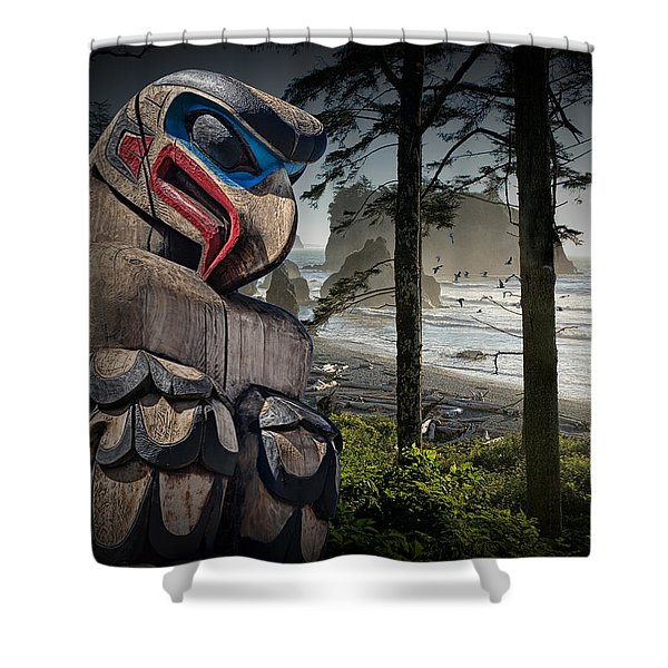 Totem Pole In The Pacific Northwest Shower Curtain