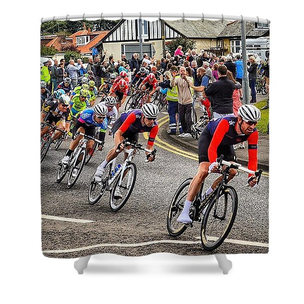 Tour Of Britain 2015 - Cycling Bradley Wiggins Shower Curtain