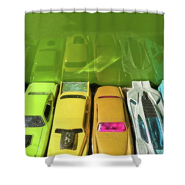 Toy Cars Shower Curtain