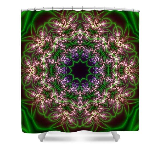 Shower Curtain featuring the digital art Transition Flower 10 Beats by Robert Thalmeier