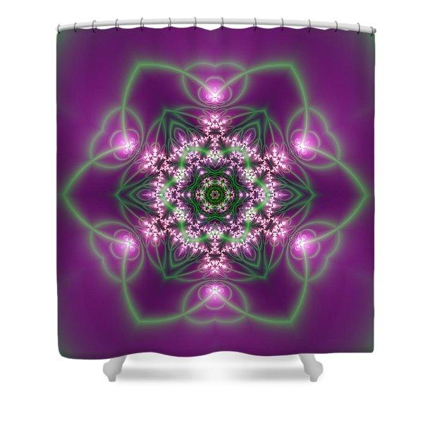 Shower Curtain featuring the digital art Transition Flower 6 Beats 3 by Robert Thalmeier