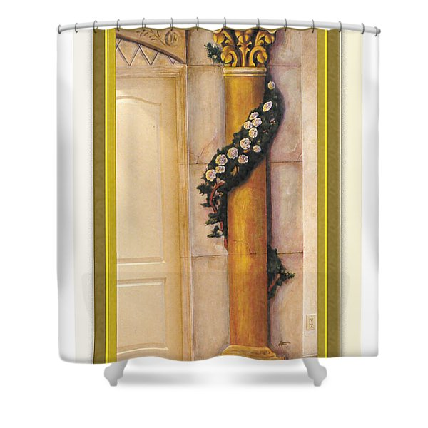 Trompe L'oeil Column Shower Curtain