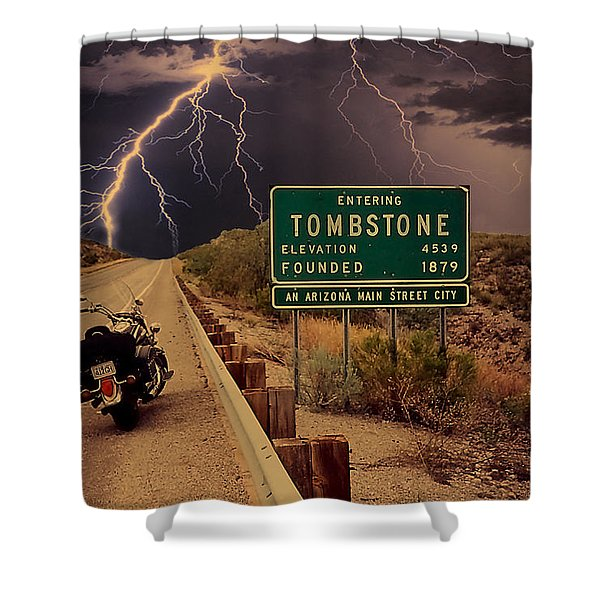 Trouble In Tombstone Shower Curtain