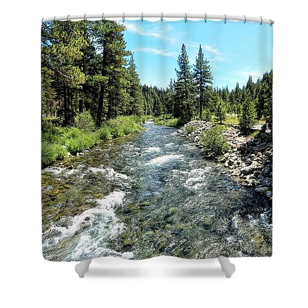 Truckee River In Tahoe City Shower Curtain
