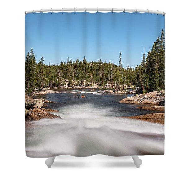 Tuolumne River Shower Curtain
