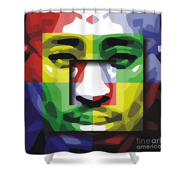 Tupac 4x Shower Curtain