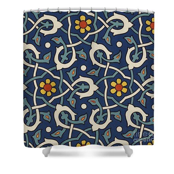 Turkish Textile Pattern Shower Curtain
