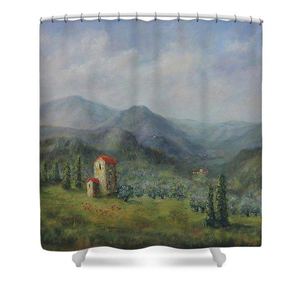 Tuscany Italy Olive Groves Shower Curtain