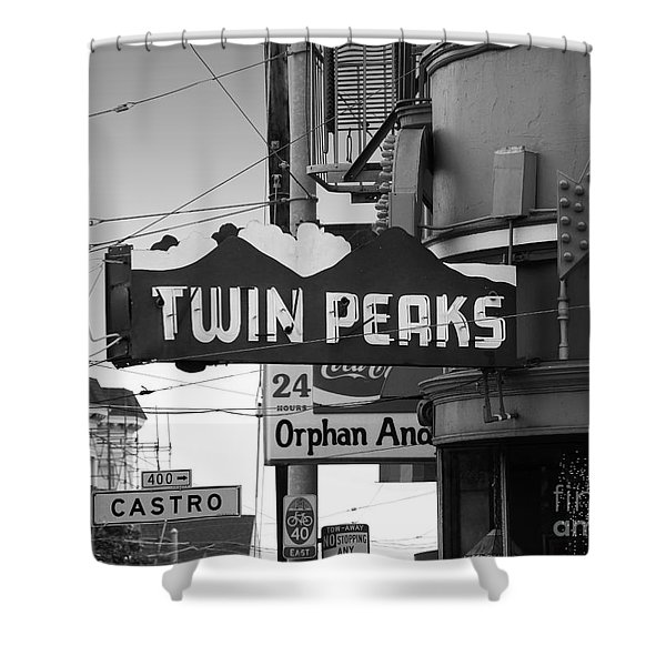 Twin Peaks Bar In San Francisco Shower Curtain by Wingsdomain Art and Photography