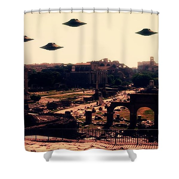 Ufo Rome Shower Curtain