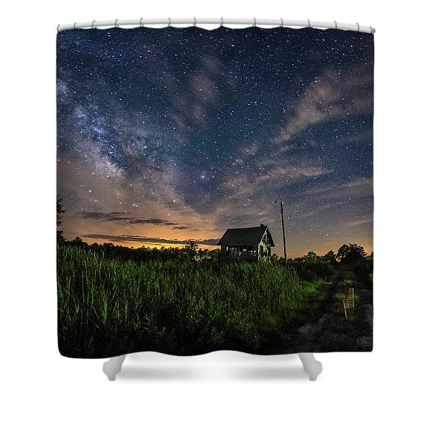 Under A New Moon Shower Curtain