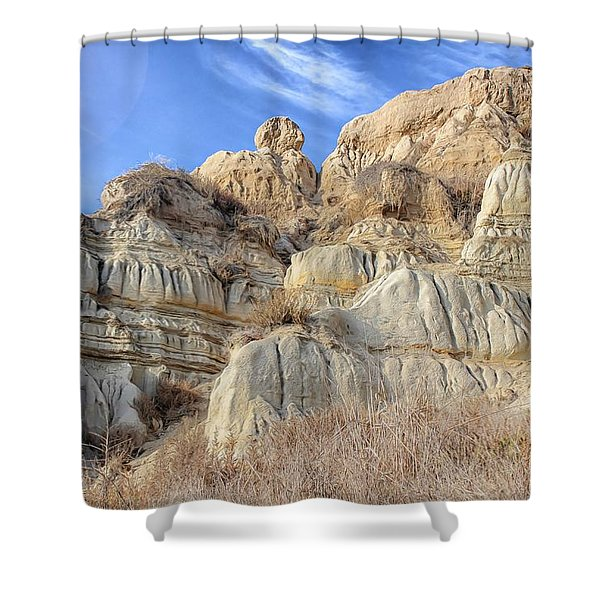 Unstable Cliffs Shower Curtain