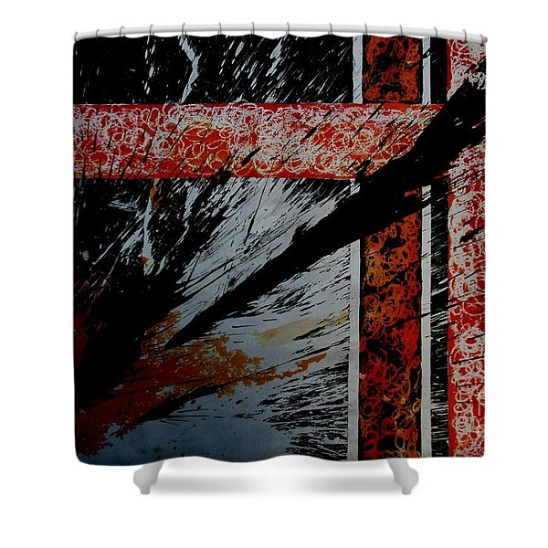 Fencing-2 Shower Curtain
