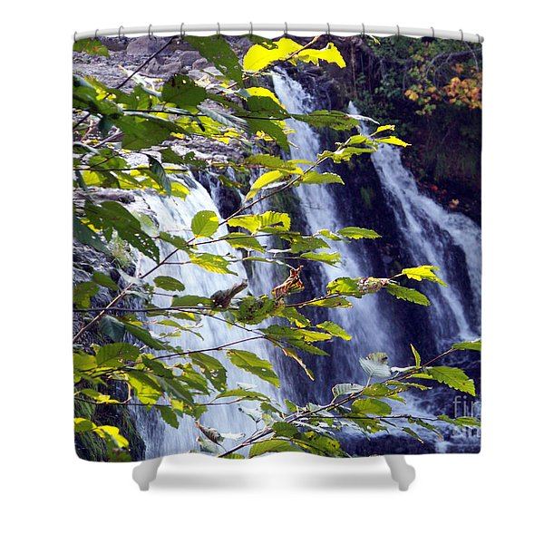 Shower Curtain featuring the photograph Upper Rock Creek Falls by Charles Robinson