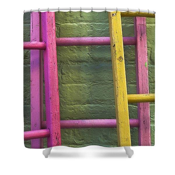 Upwardly Mobile Shower Curtain