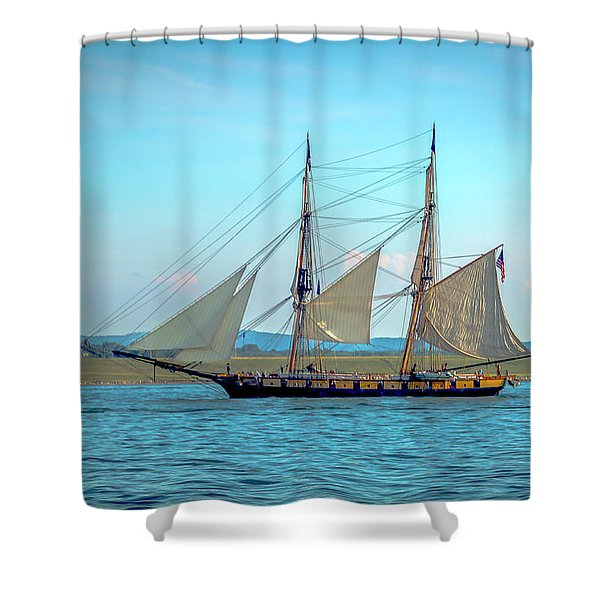 Us Brig Niagara Shower Curtain