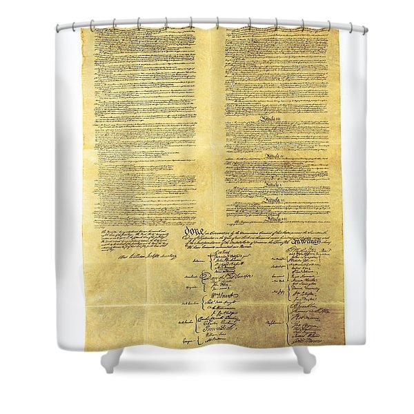 U.s Constitution Shower Curtain