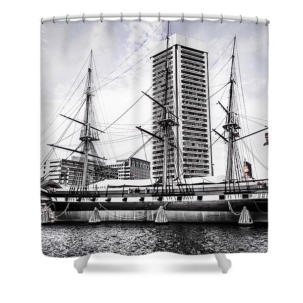 U.s.s. Constellation Shower Curtain