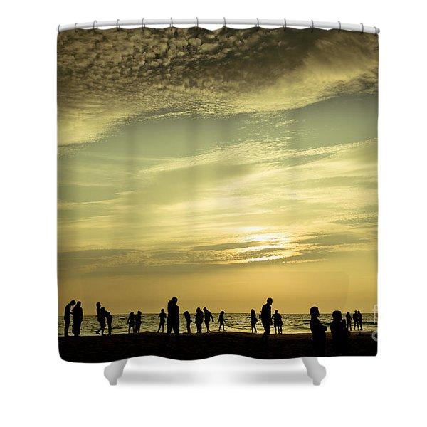 Shower Curtain featuring the photograph Vanilla Sky by Raimond Klavins