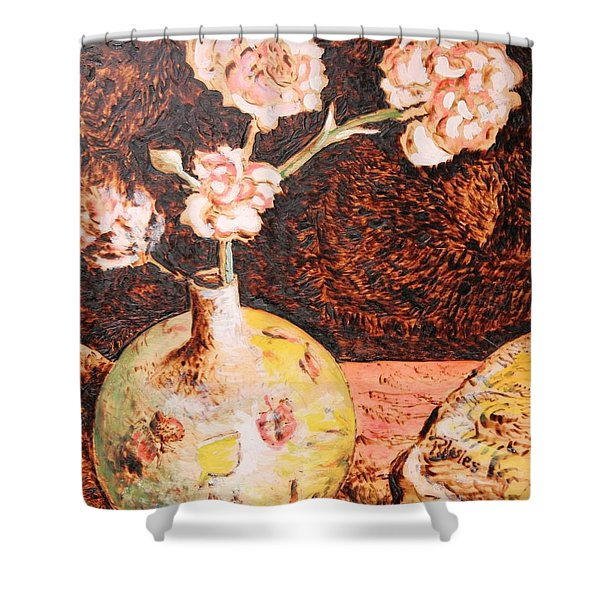 Vase With Flowers Shower Curtain
