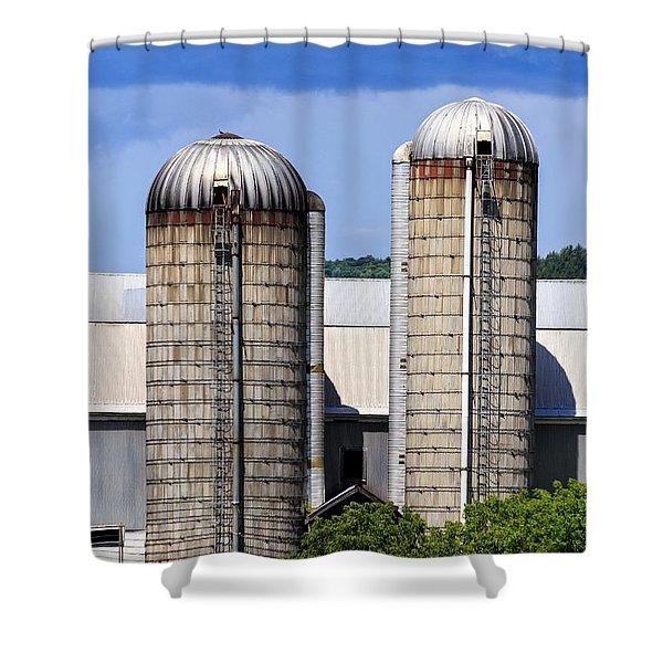 Vermont Silos Shower Curtain