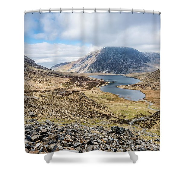 Shower Curtain featuring the photograph View From Glyder Fawr by Nick Bywater
