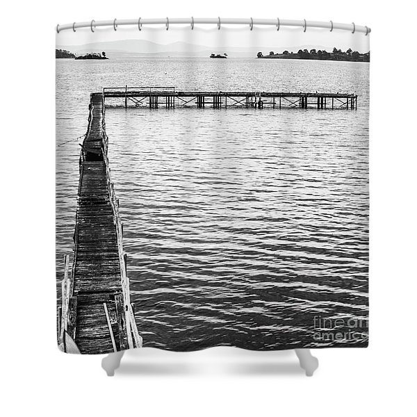 Vintage Marine Scene Shower Curtain