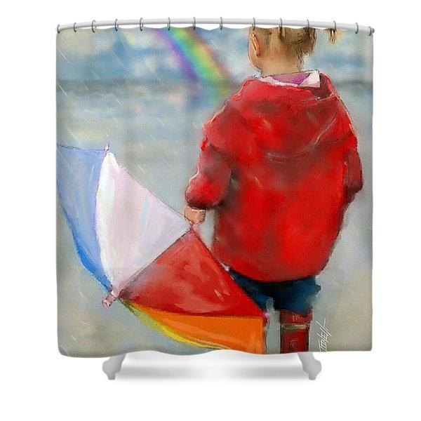 Rainbows Waiting For A Rainbow. Shower Curtain
