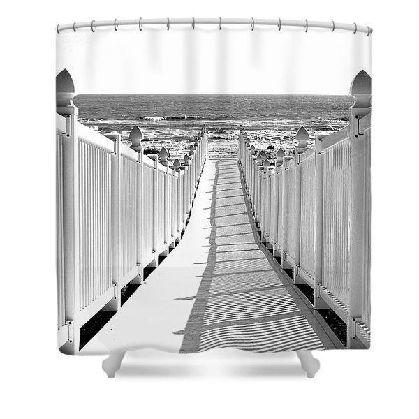 Walkway To Beach Shower Curtain