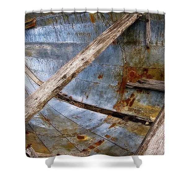 Shower Curtain featuring the photograph Washed Up by Heather Kenward