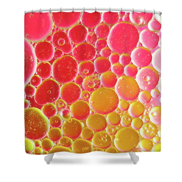 Water And Oil Bubbles Shower Curtain