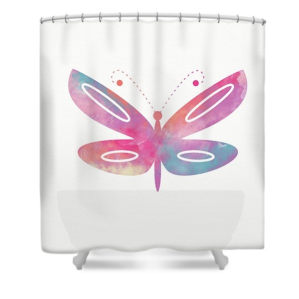 Watercolor Butterfly 2- Art By Linda Woods Shower Curtain