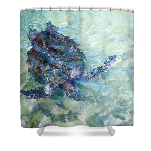 Watercolor Turtle Shower Curtain