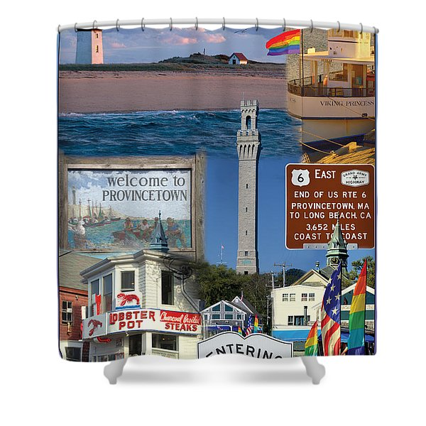 Welcome To Provincetown Shower Curtain