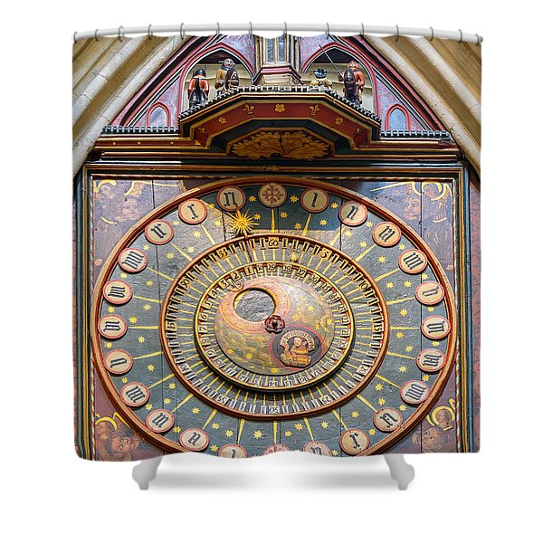 Wells Cathedral Clock Shower Curtain