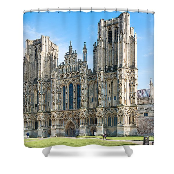 Wells Cathedral Shower Curtain