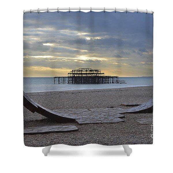 West Pier Brighton Shower Curtain