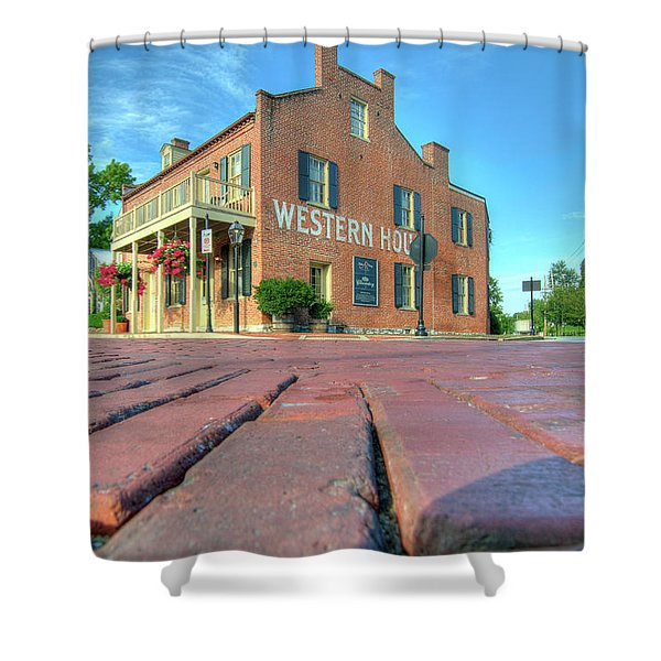 Western House Shower Curtain