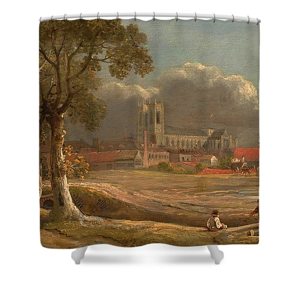 Westminster Abbey From Tothill Fields Shower Curtain