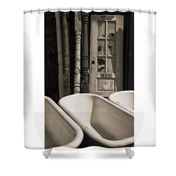Where Is The Door To The Men's Room Shower Curtain