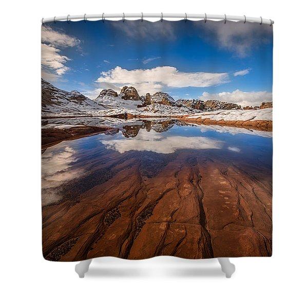 White Pocket Northern Arizona Shower Curtain