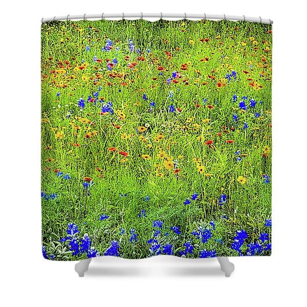 Wildflowers In Bloom Shower Curtain