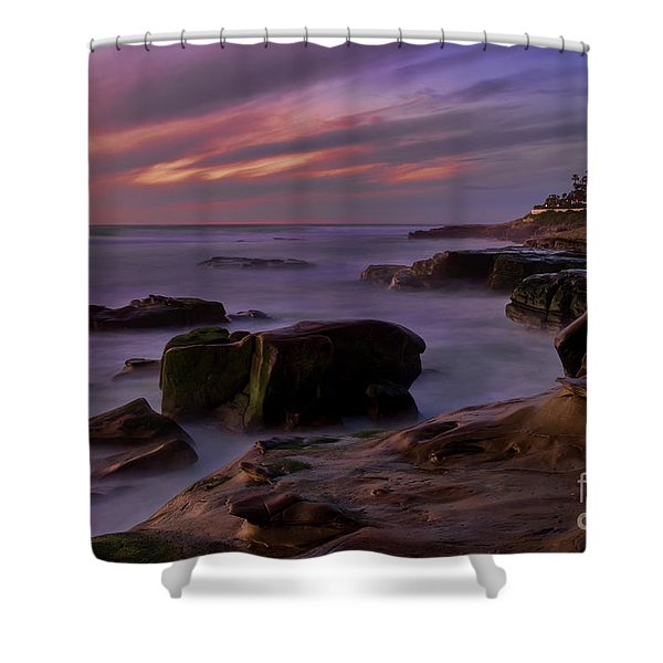 Windansea Beach At Dusk Shower Curtain