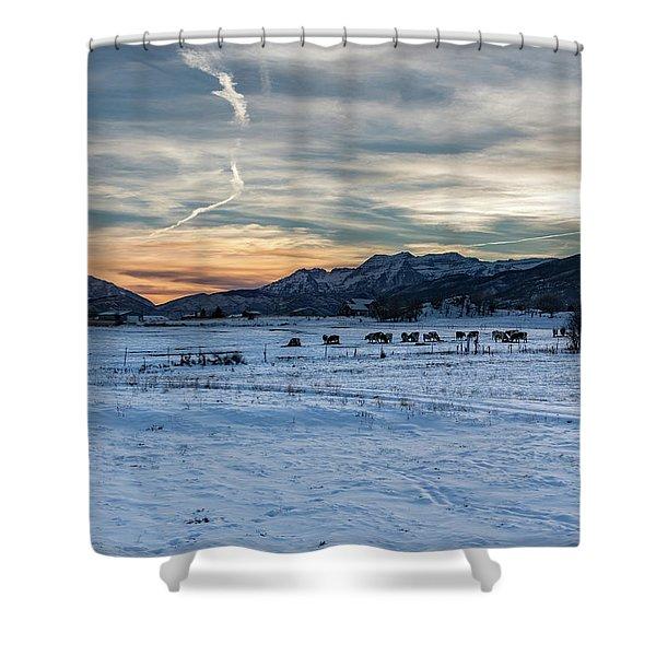 Winter Range Shower Curtain
