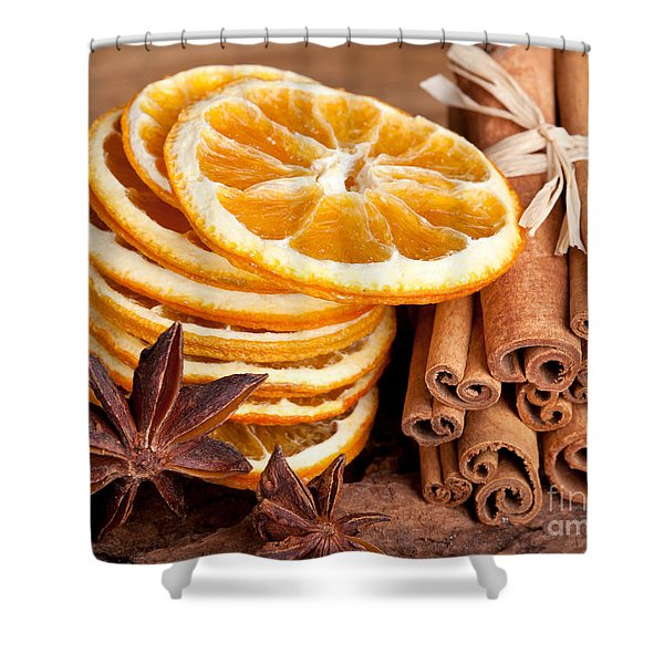Winter Spices Shower Curtain