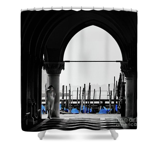 Woman At Doges Palace Shower Curtain